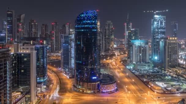 Dubaj podnikání prostoru věže noční timelapse antény