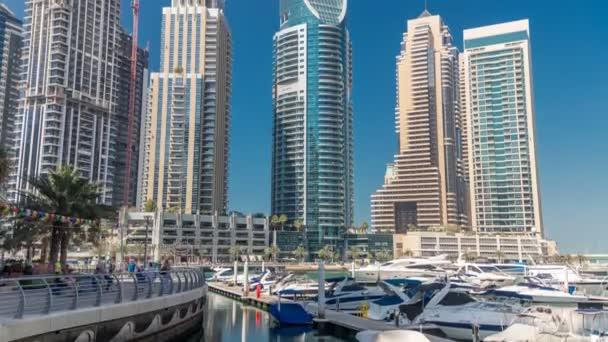 Dubai marina bay jachty, lodě timelapse