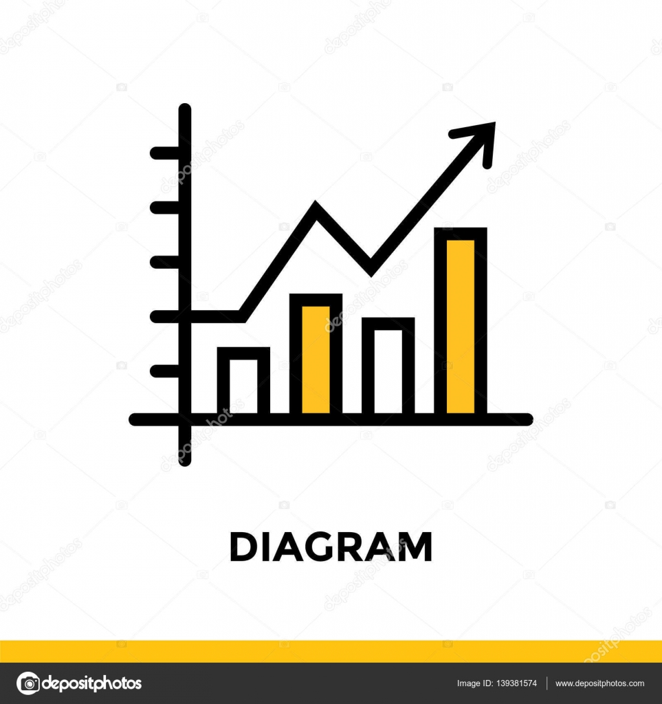 Linear diagram icon for startup business pictogram in outline style linear diagram icon for startup business pictogram in outline style vector flat line icon ccuart Image collections