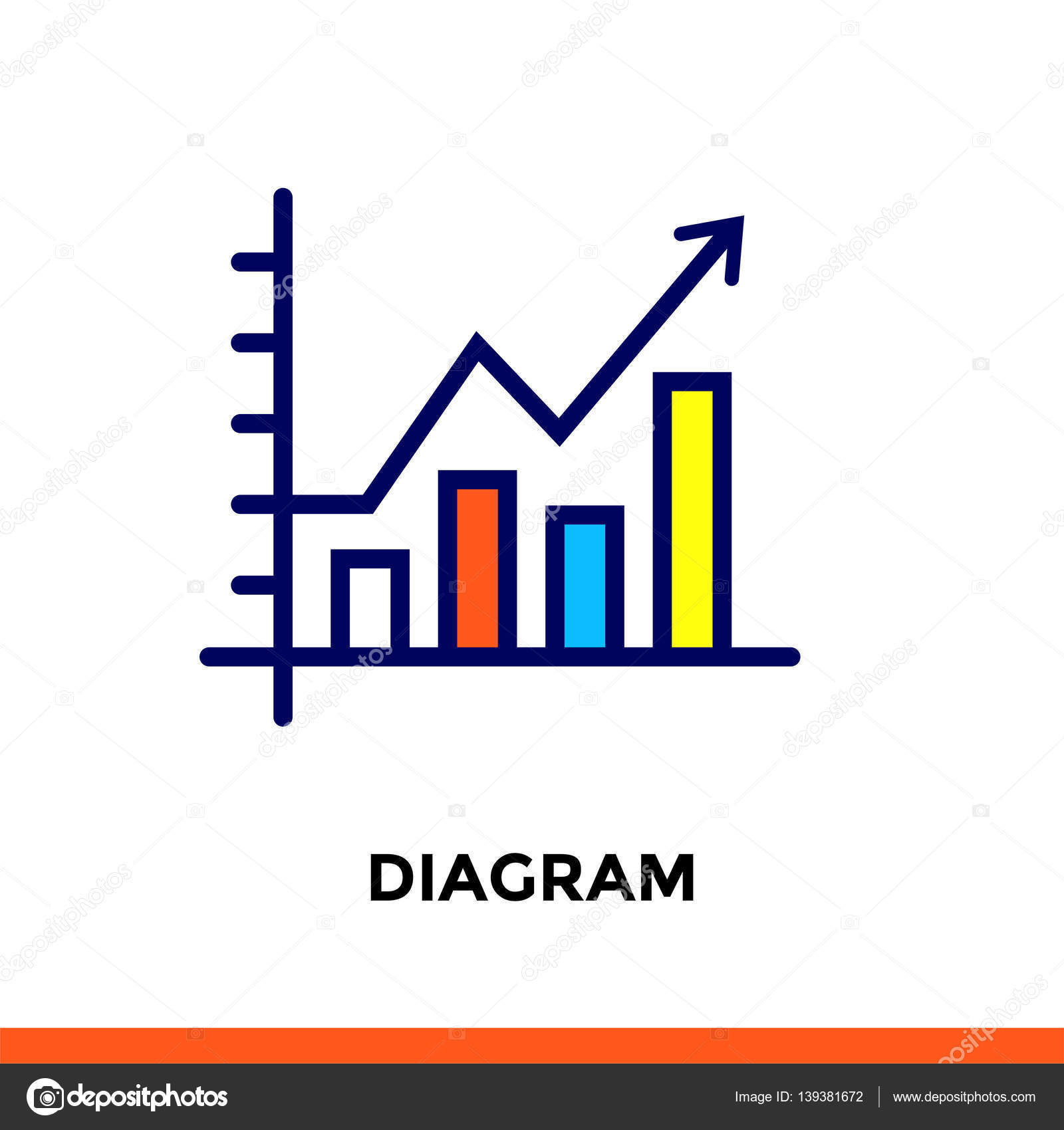 Linear diagram icon for new business pictogram in outline style linear diagram icon for new business pictogram in outline style vector flat line icon ccuart Image collections