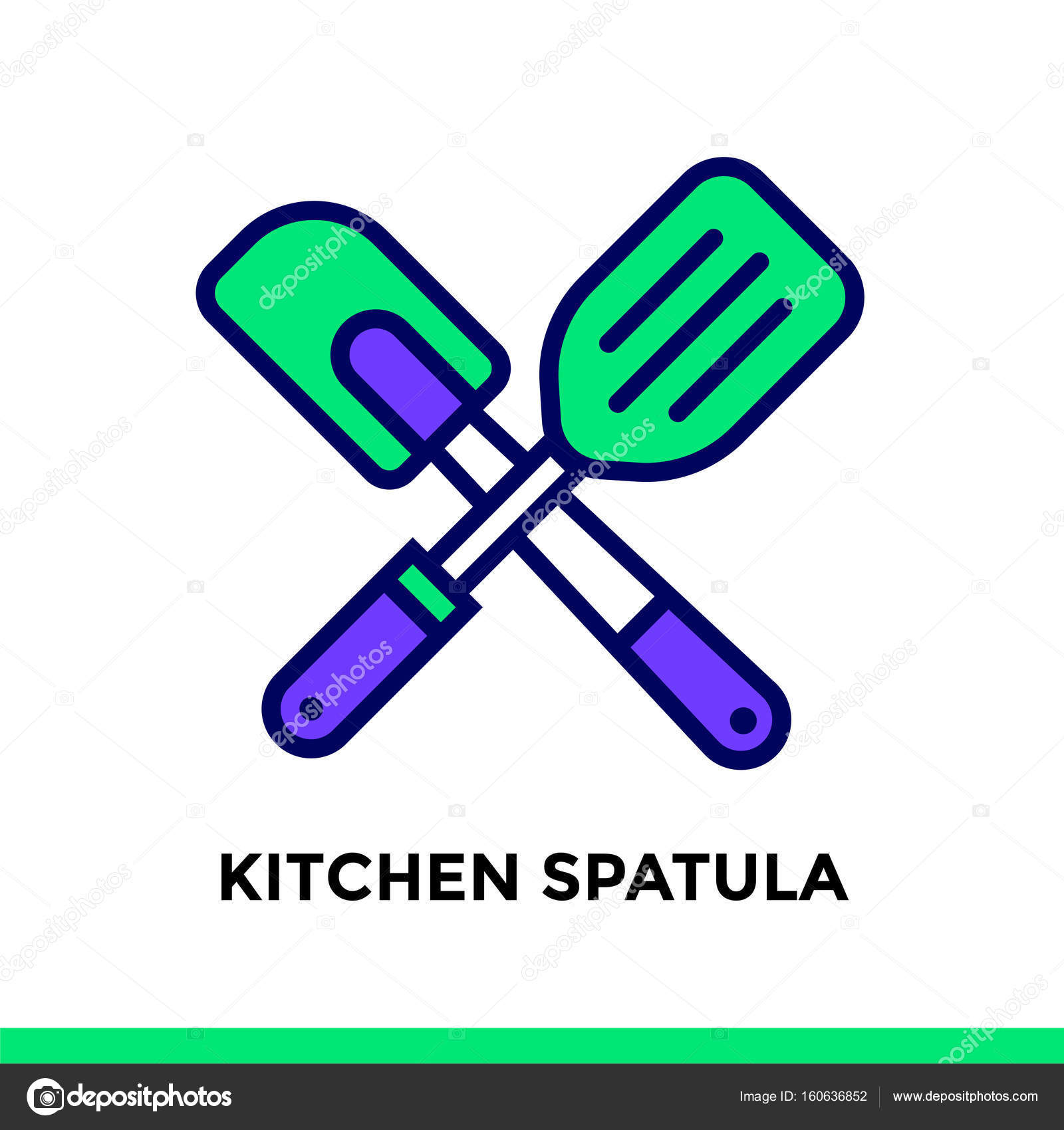 Lineare Symbol Küche Spatel aus Bäckerei, kochen. Piktogramm in ...
