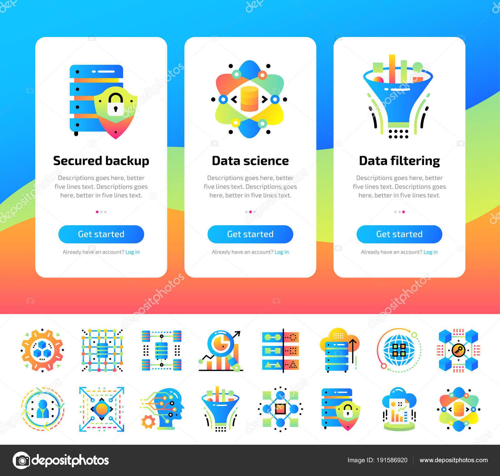 Pantallas de la aplicación de inducción de datos ciencia tecnología ...
