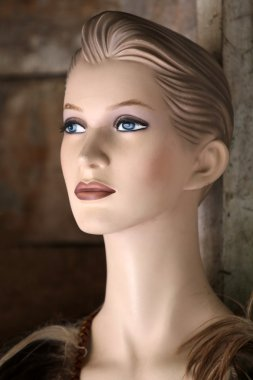 portrait of mannequin indoor