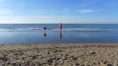 sea coast with children