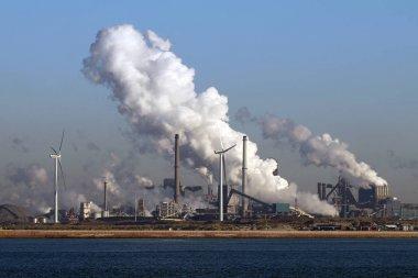 big factory near seaside