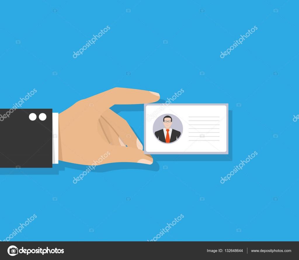 Plantilla de tarjeta de identificación o tarjeta de identificación ...