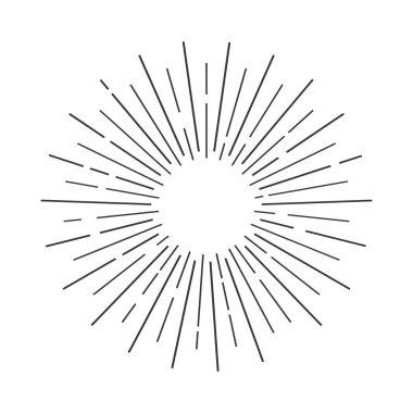 Sun rays shape
