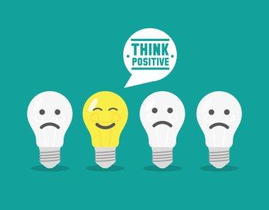 Positive thinking icon vector illustration stock vector
