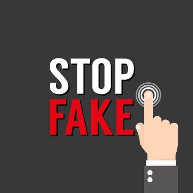 Stop Fake concept