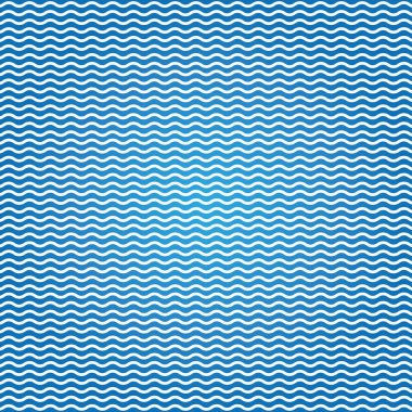 blue pattern with waves.