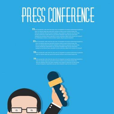 Journalism concept flat background