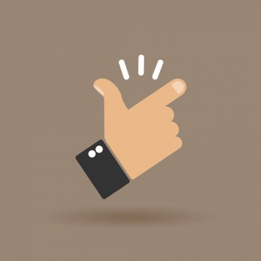 Snap of the fingers clip art vector