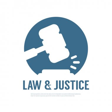 Lawyer Attorney Legal Law Logo design vector template
