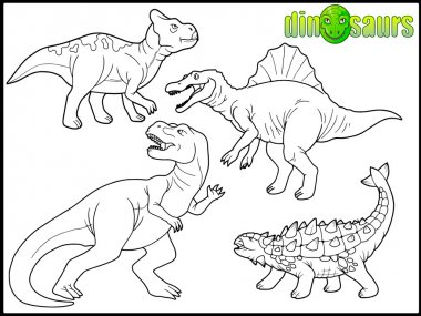 set of images of dinosaurs