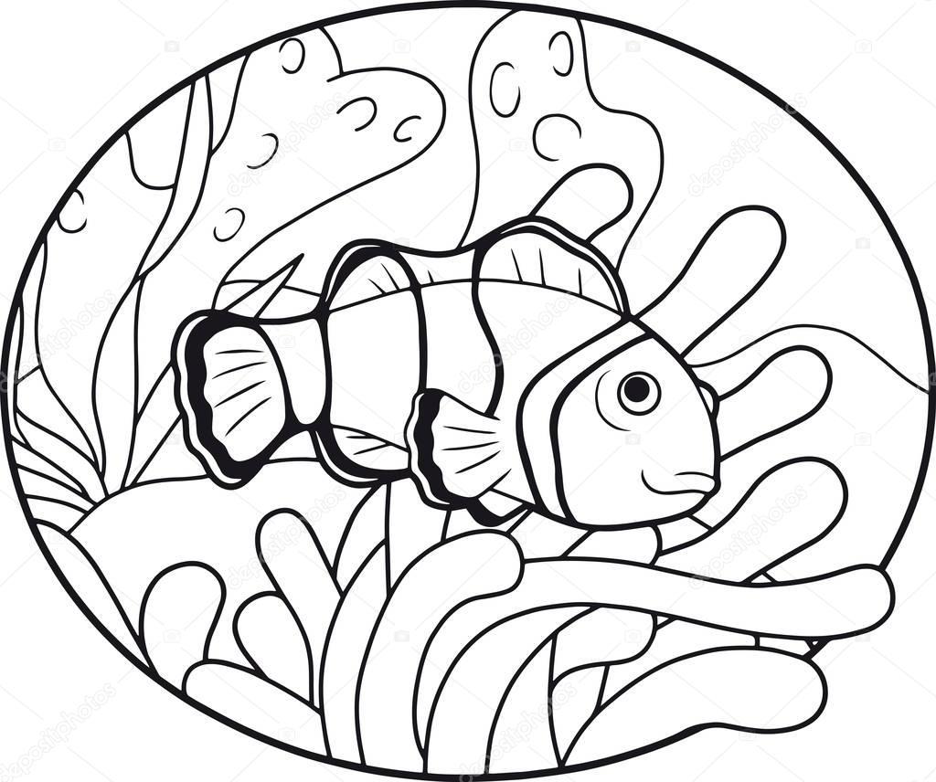Cute Clown Fish Stock Vector C Fargon 129556206