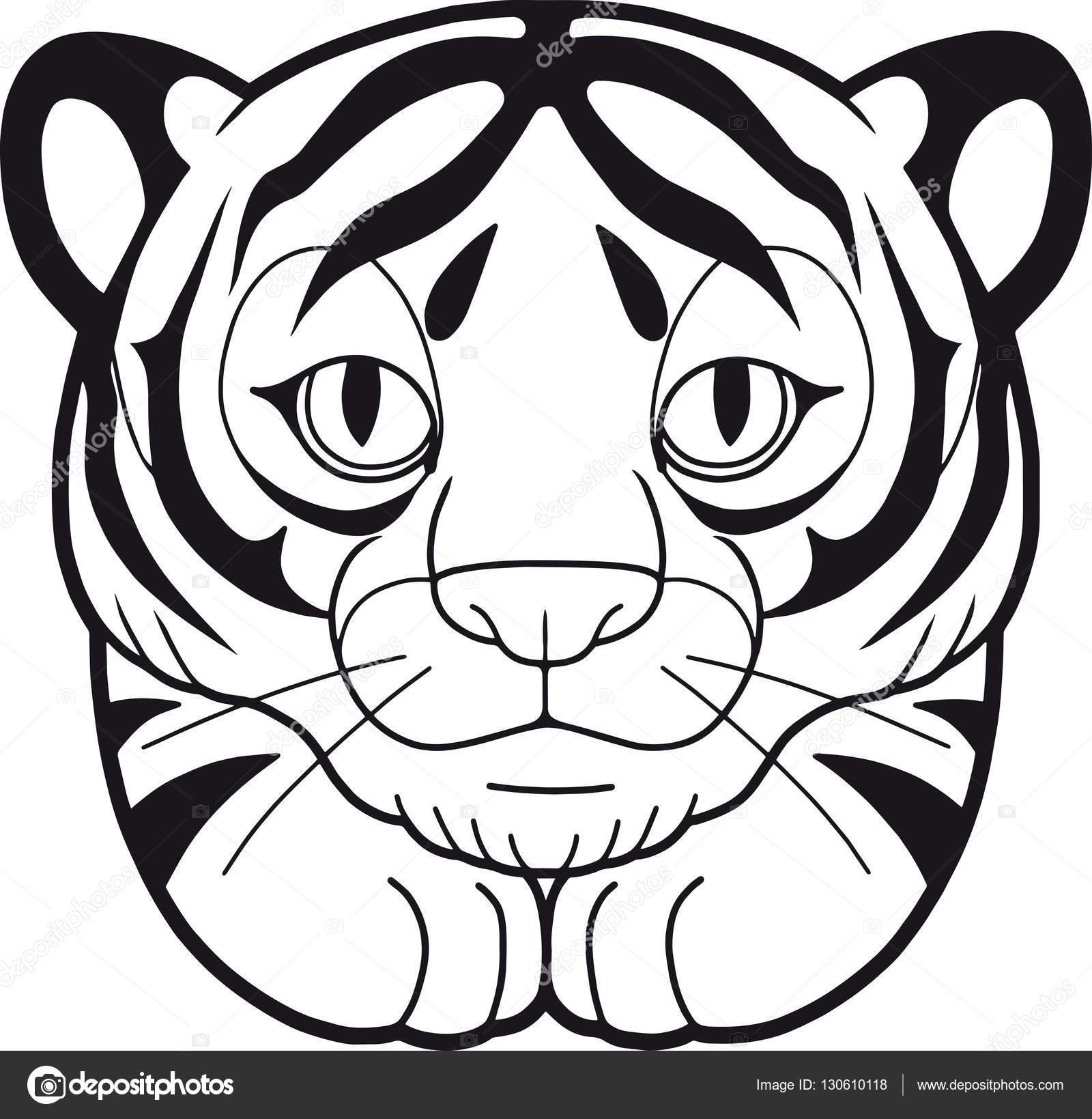Tigre lindo ilustración — Vector de stock © Fargon #130610118