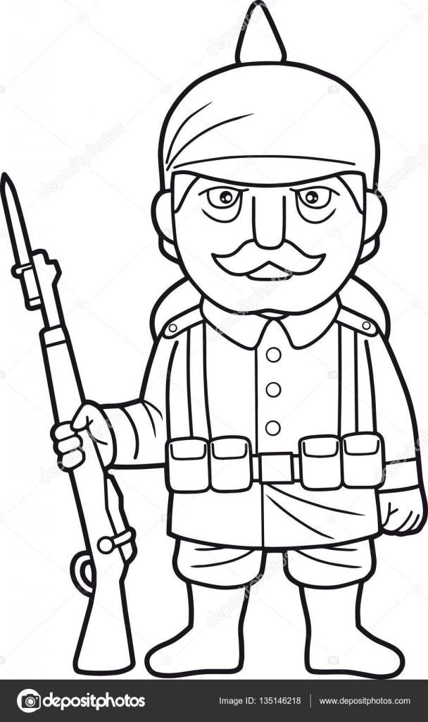 Imágenes: soldados en guerra para colorear | Soldado alemán durante ...
