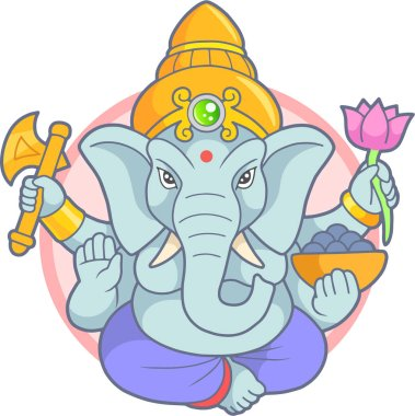 Indian god Ganesha emblem