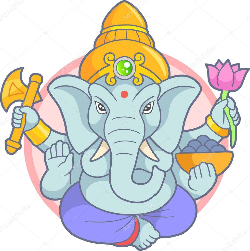 Indian god Ganesha emblem