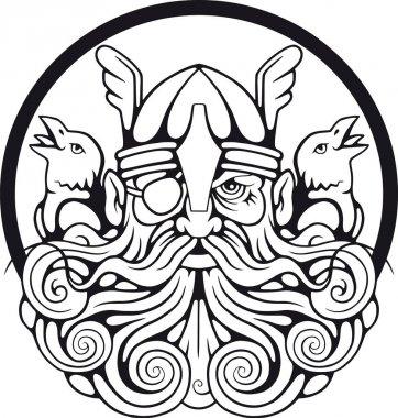 god Odin and his ravens