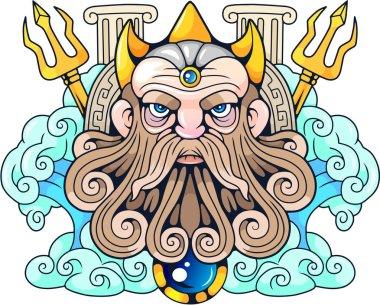 ancient Greek god Poseidon, Lord of the Seas