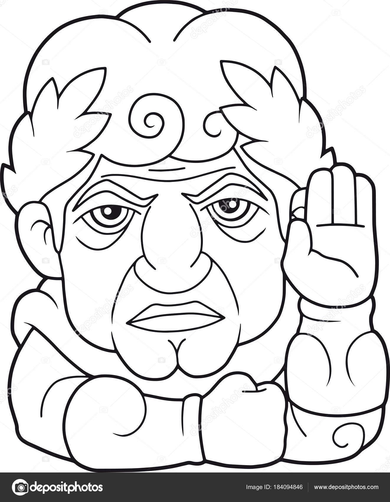 Legendario Emperador Roma Chico Julio César Ilustración Divertida ...