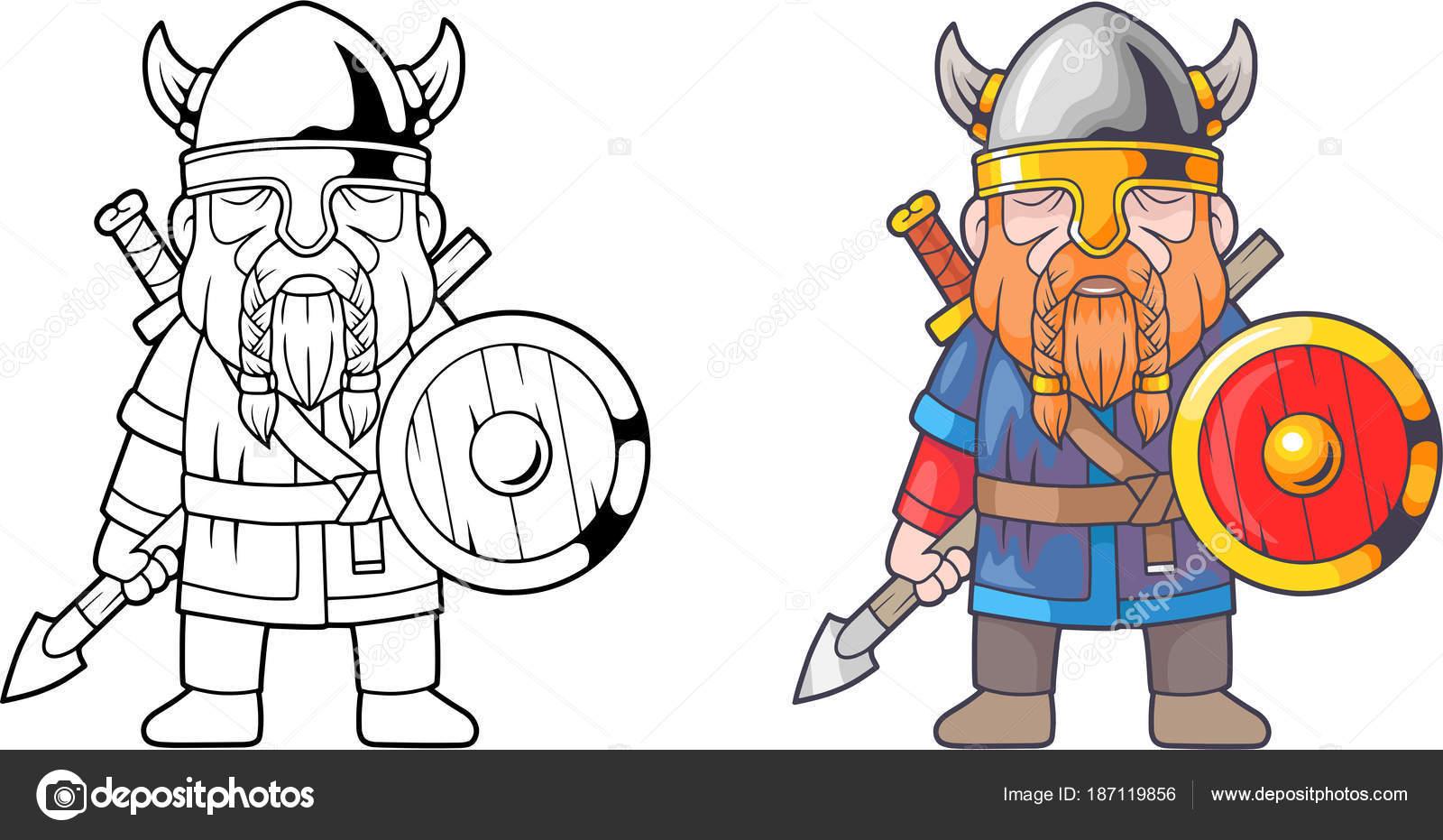 Funny Viking Coloring Book Stock Vector C Fargon 187119856