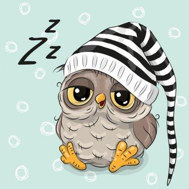 Sleeping cute Owl