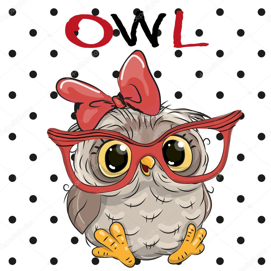 Cute Owl with glasses