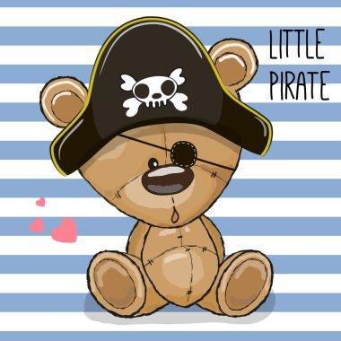 Cute cartoon Bear in a pirate hat
