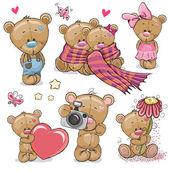 Fotografie Sada medvídek roztomilý kreslený