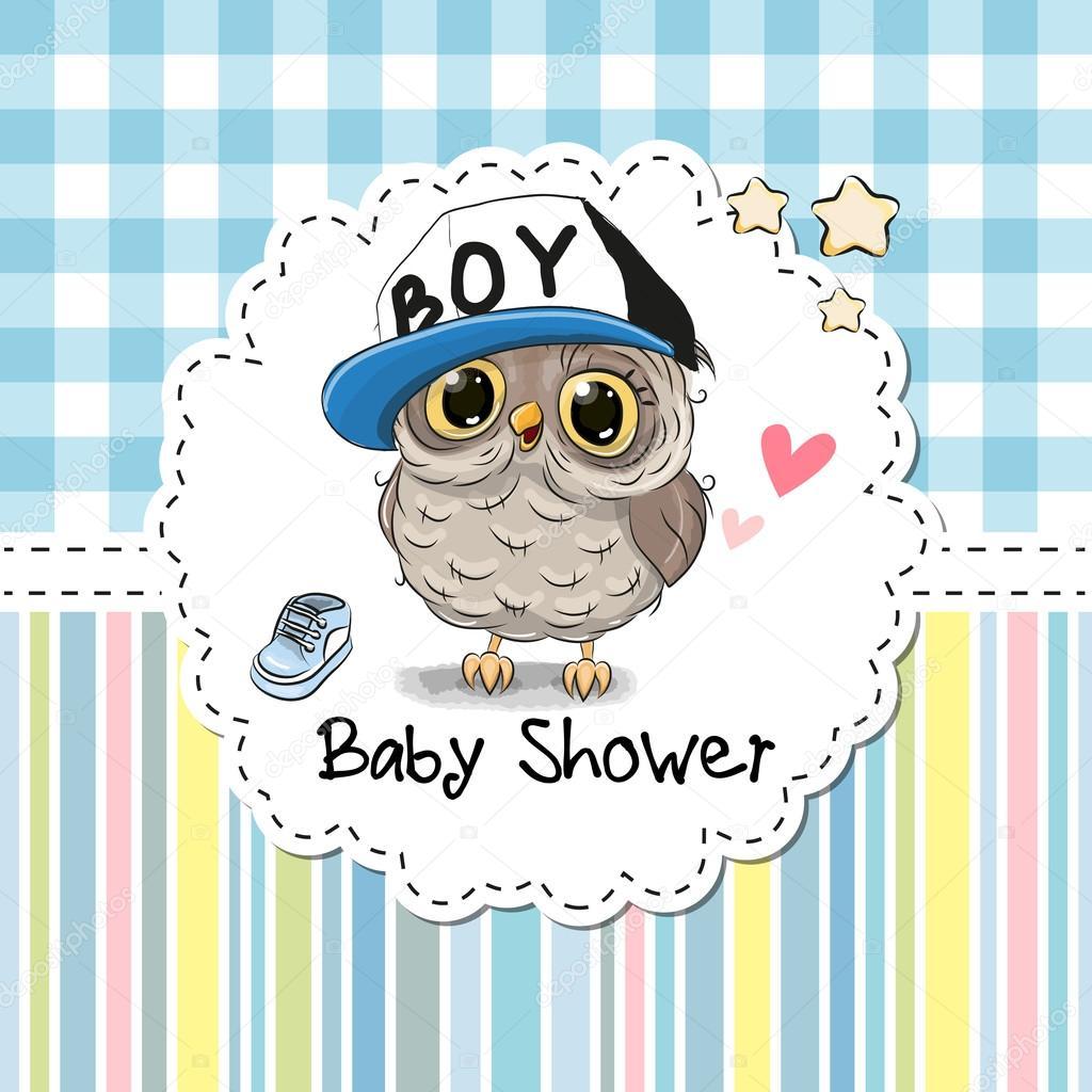Buhos Animados Bebes Para Baby Shower Bebé Ducha Tarjeta De