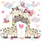 Fotografia Due giraffe carine