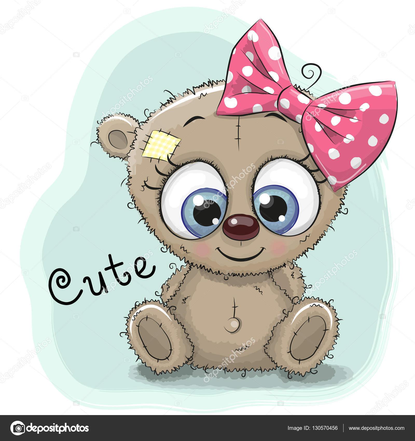 Ours de fille de dessin animé