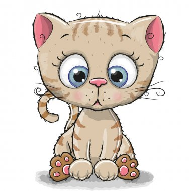 Cute Cartoon Kitten
