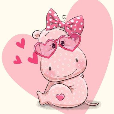 Cute hippo girl