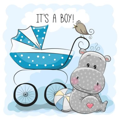 Baby carriage and Hippo