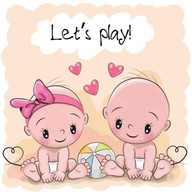 Two Cute Cartoon babies