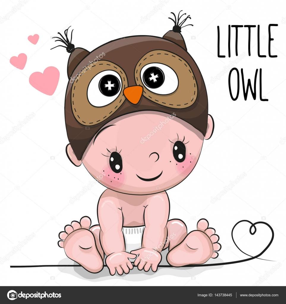 Imágenes Buhos Animados Bebes Chico Lindo De Dibujos Animados