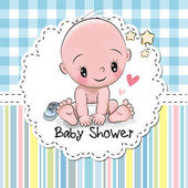 Fotografia baby doccia greeting card