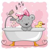 Fotografia Orso in bagno