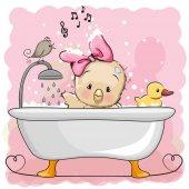 Fotografia Pollo in bagno