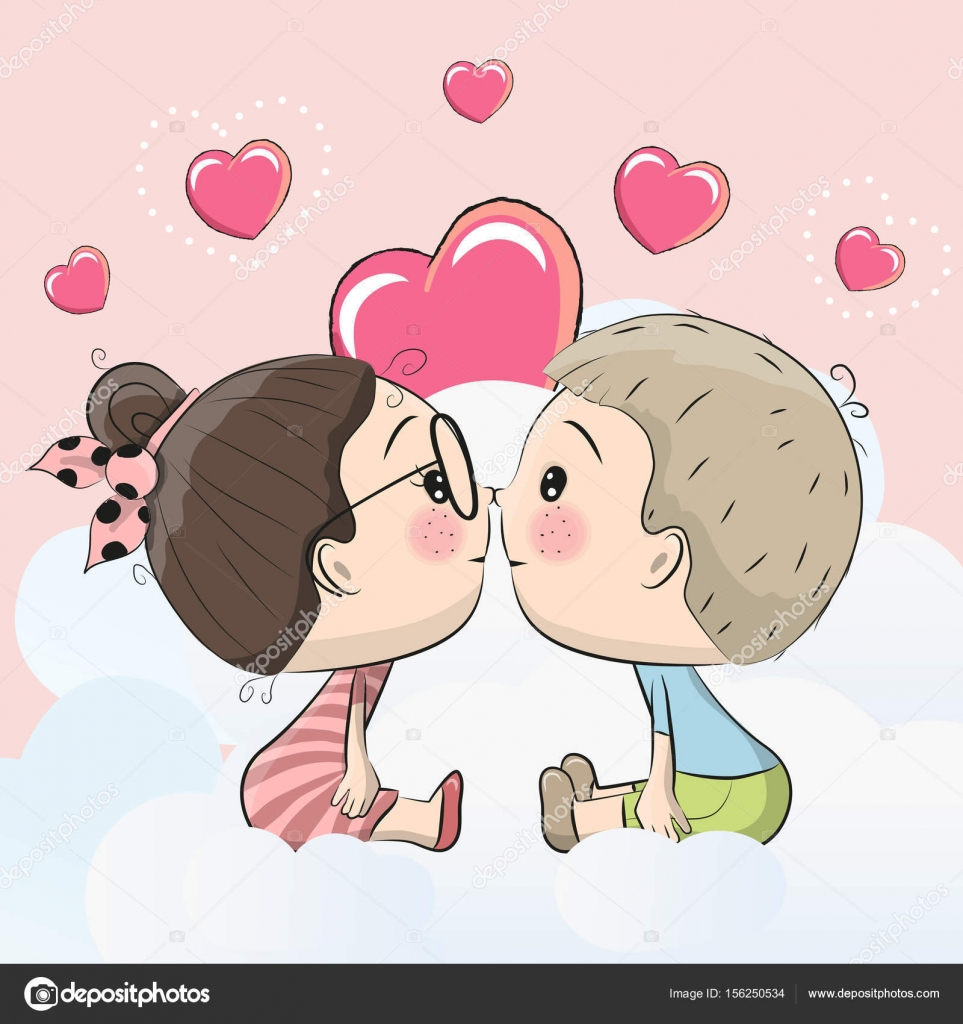 how to draw cartoon kissing