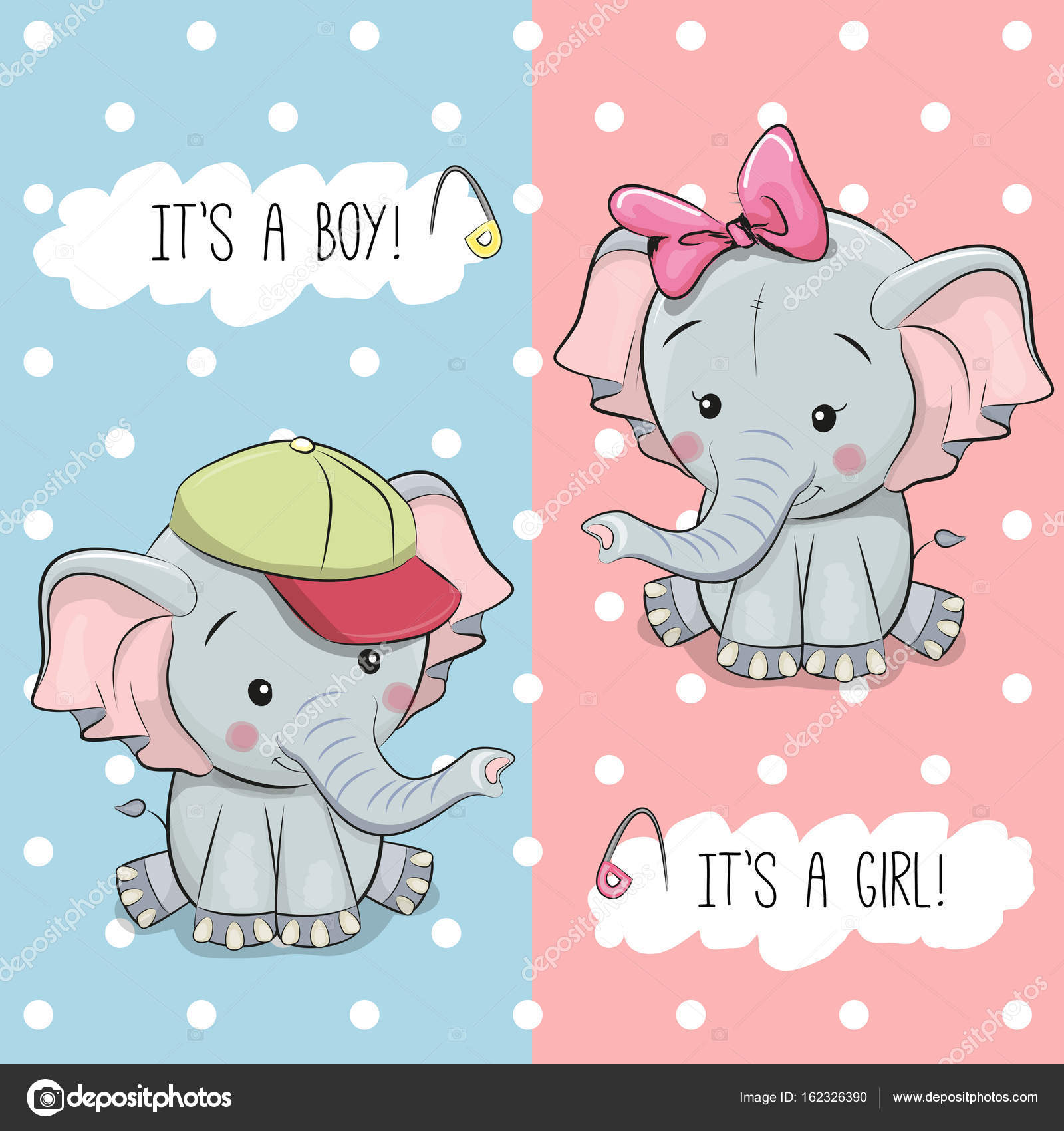 Cart o beb chuveiro com elefantes vetores de stock - Fotos de elefantes bebes ...