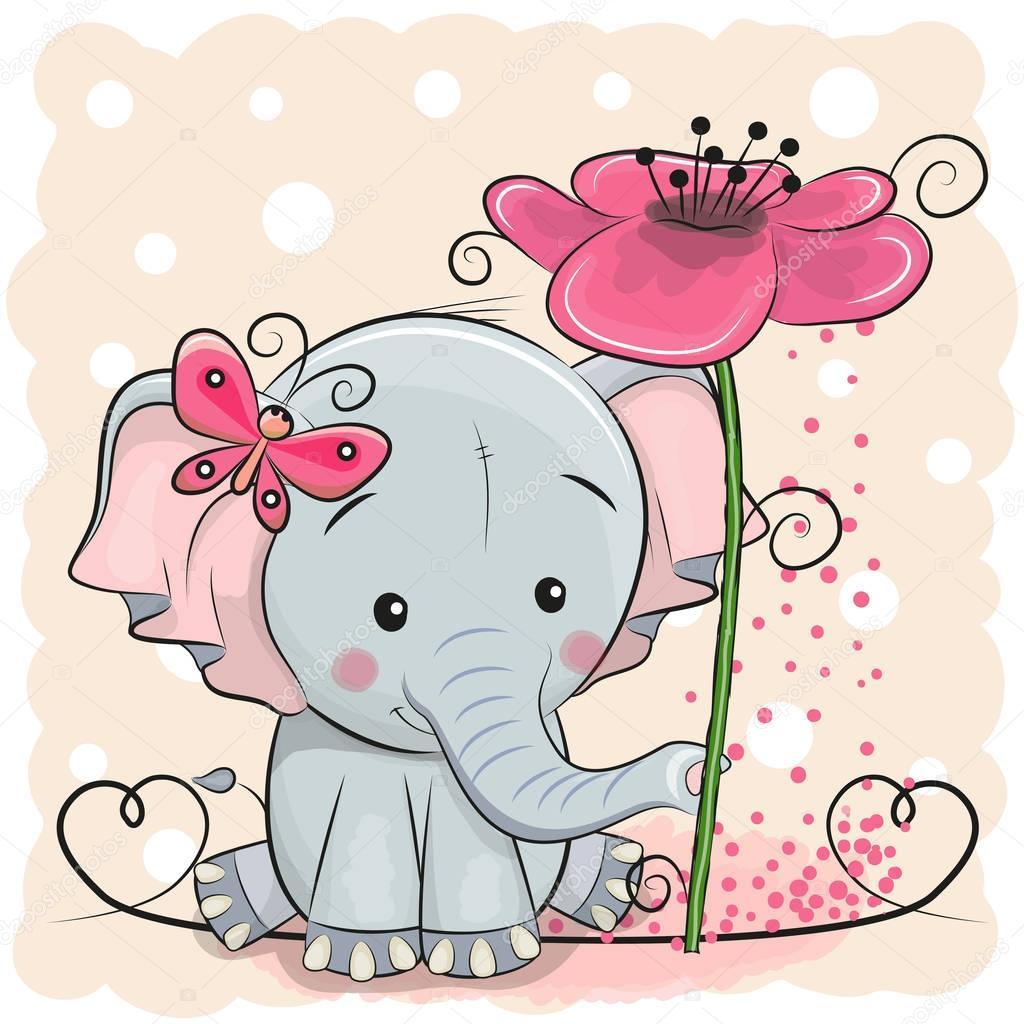 Слоник открытка
