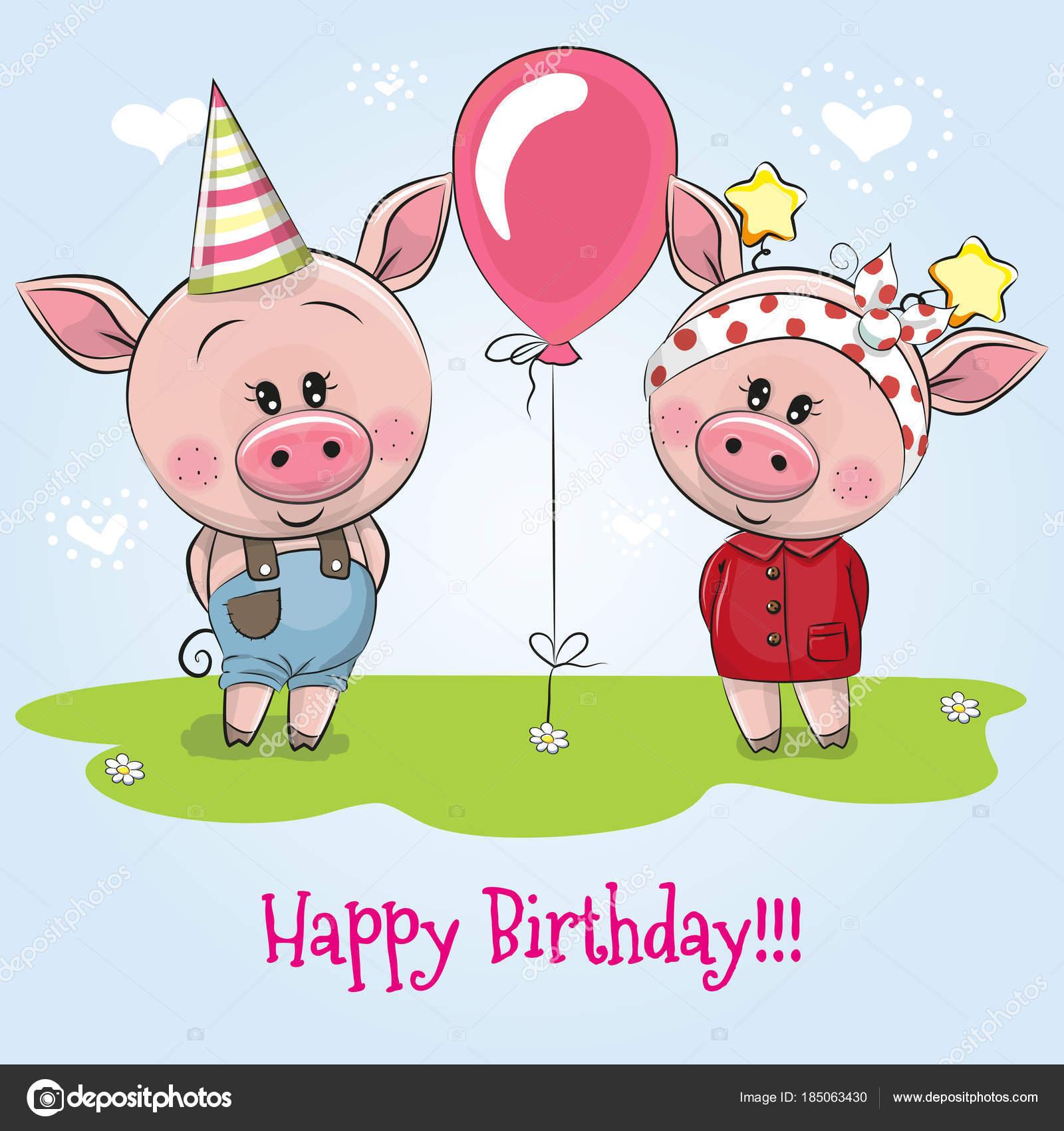 поросенка с днем рожденья или рождения поздравления конечно