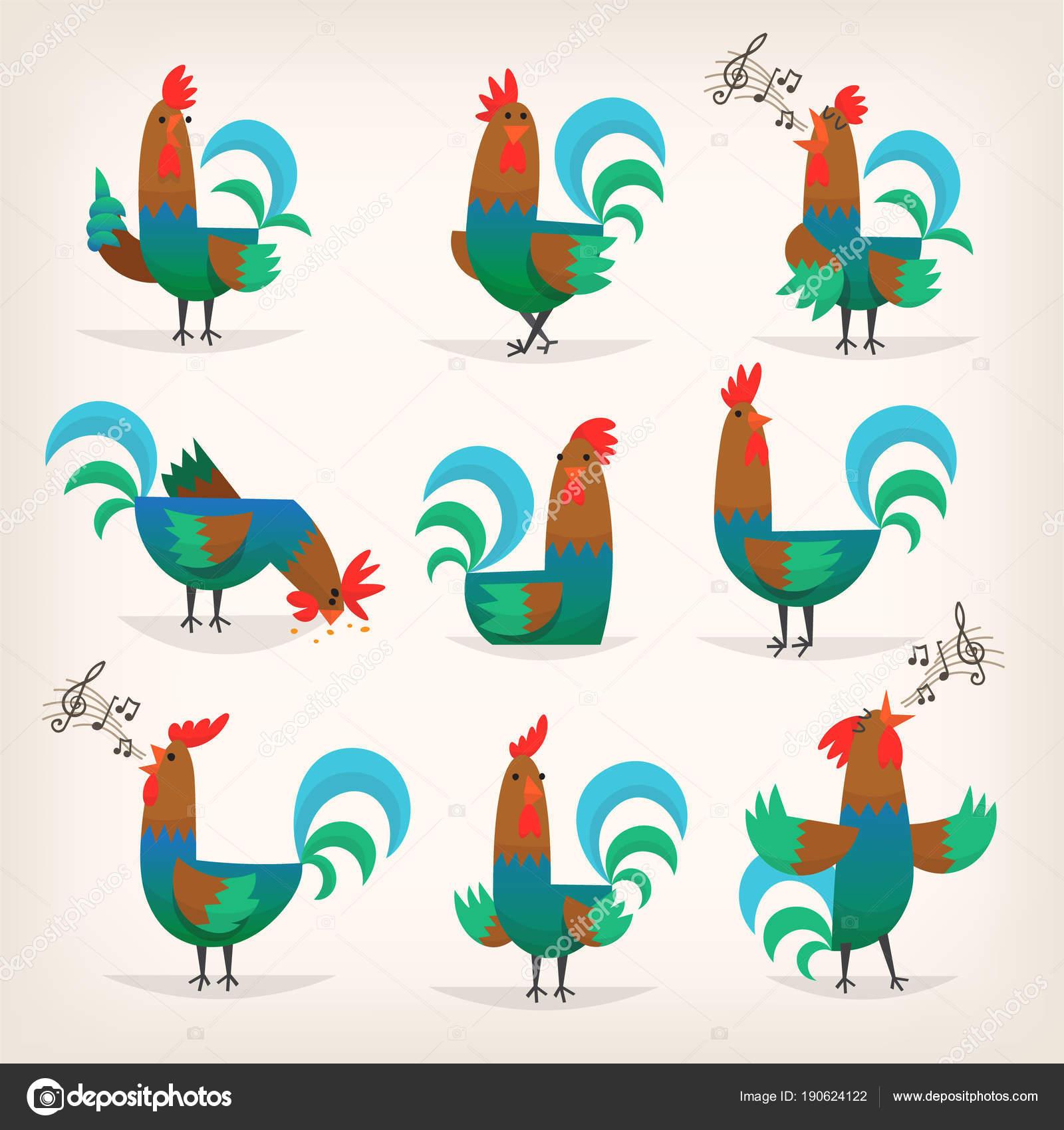 kuřata s velkými kohouty
