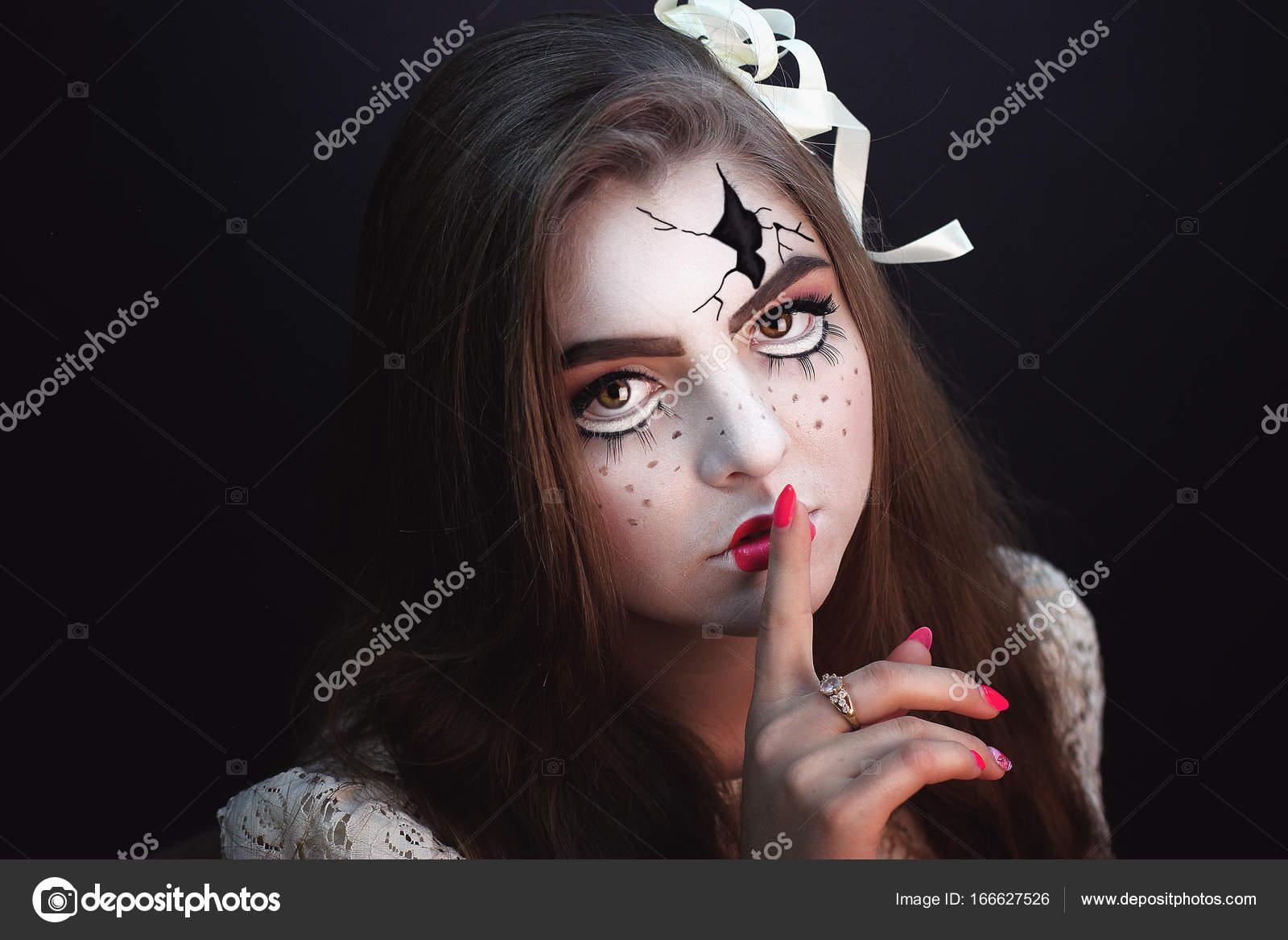 Briken Lalka Halloween Makijaż Zdjęcie Stockowe Olgaosa 166627526