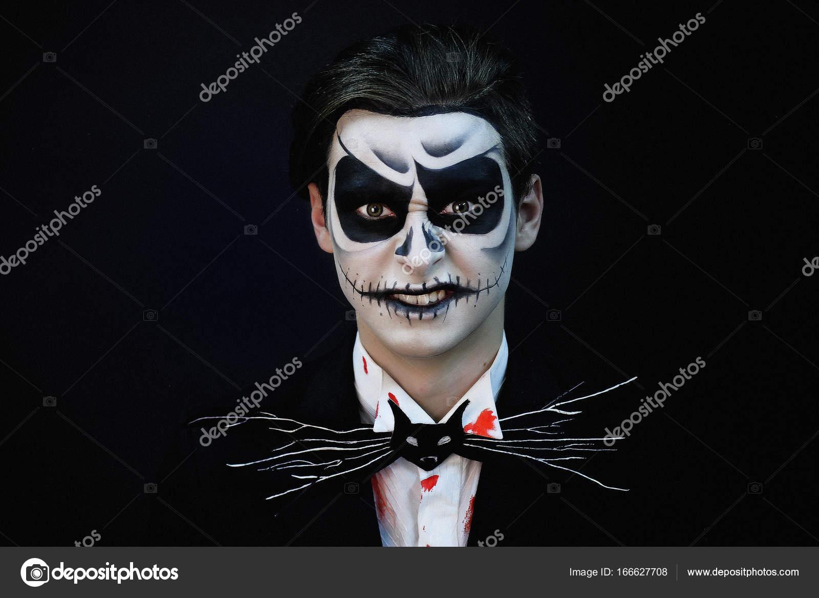 Squelette Maquillage Halloween Photographie Olgaosa 166627708
