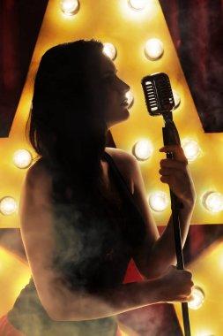 Beauty woman singer